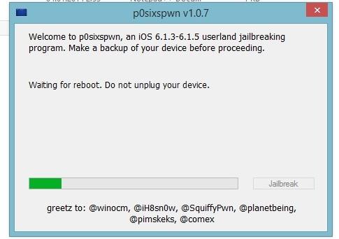 Джейлбрейк iPhone 0 от через p0sixspwn