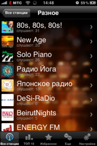 Каталог iRusRadio