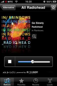Интерфейс AOL Radio