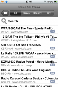 Могучий поиск ooTunes Radio