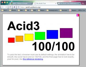 Результаты Acid3