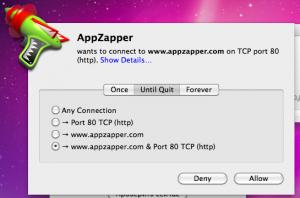 Программа AppZapper полезла в Сеть без нашего ведома