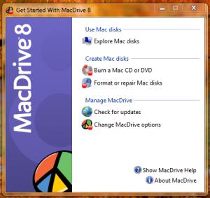 Центр управления MacDrive