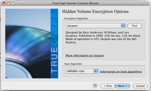 Алгоритм шифрования для скрытой файловой системы