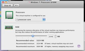 Настройки процессора и оперативки
