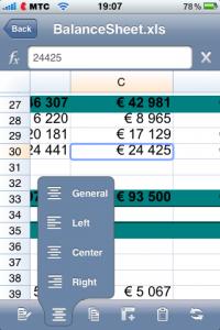 Редактирование электронных таблиц