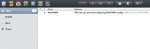 Интерфейс почты MobileMe