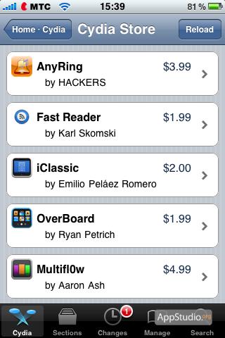 Аналог рубрики What's Hot в App Store