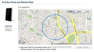 Ищем iPhone на карте