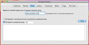 Пингуем сервер Яндекса