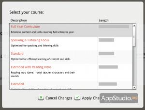 Формирование программы обучения