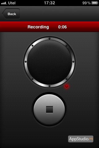 микрофон в Ringtone Designer Pro