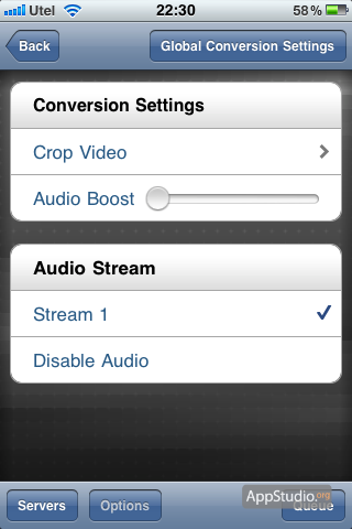 Air Video options