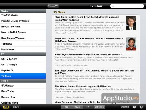IMDb: TV news