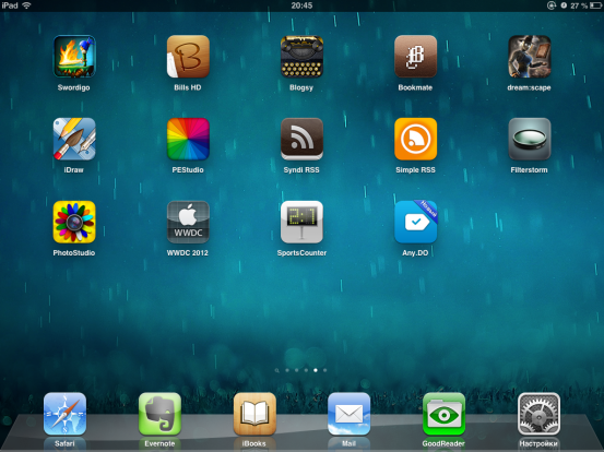 Рабочий стол в iOS 6