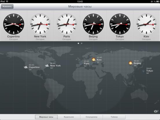 Часы iOS 6