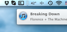 iTunes и центр уведомлений Mountain Lion