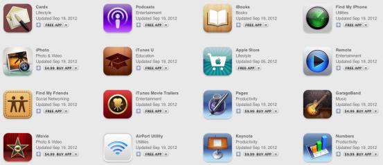 Обновления iOS-приложений Apple