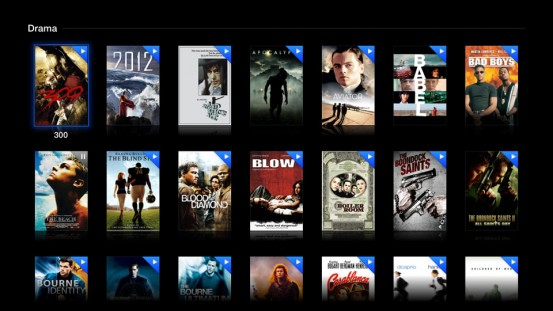 Просмотр по жанрам в aTV Flash Black