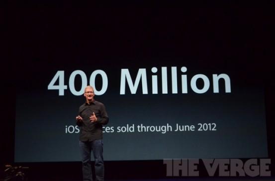 Всего продано свыше 400 миллионов iOS-гаджетов
