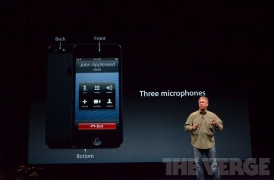 Микрофоны в iPhone 5