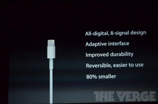 Lightning - новый порт iPhone 5