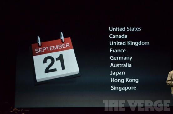 iPhone 5 с 21 сентября