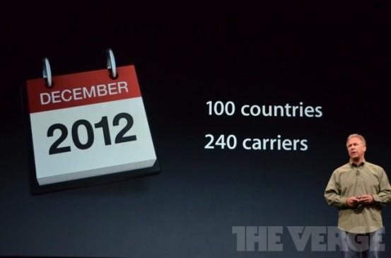 iPhone 5 в 100 странах в декабре