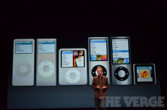 Старая линейка iPod