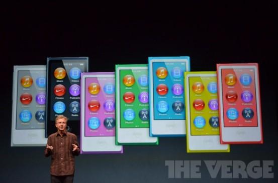 Расцветки новых iPod nano