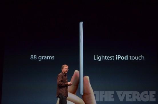 Вес нового iPod touch - 88 граммов