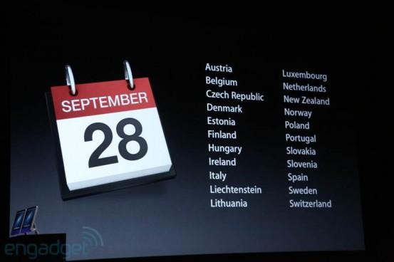Продажи iPhone 5 с 28 сентября