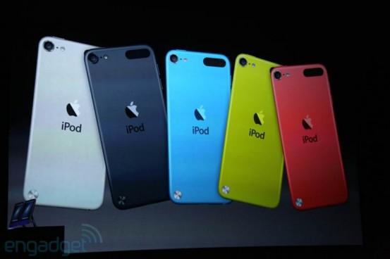 Различные расцветки iPod touch 5G