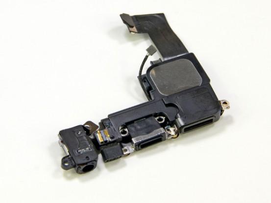 Коннектор Lightning, мини-джек и динамик iPhone 5