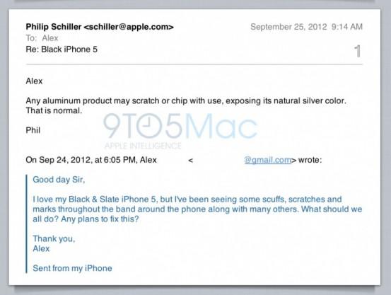 Фил Шиллер про царапины на iPhone 5