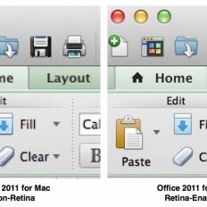 Microsoft Office 2011 адаптирован под Retina