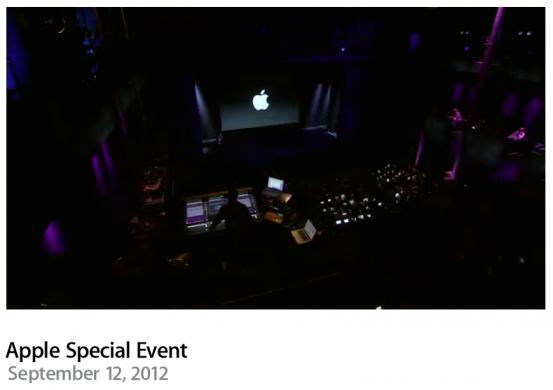 Видеозапись презентации Apple 12 сентября