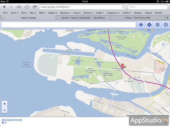 Google Street View в iOS 6