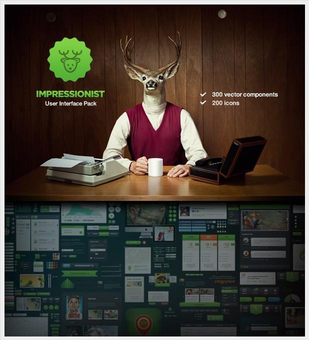 Набор элементов для веб-дизайна Impressionist от DesignModo