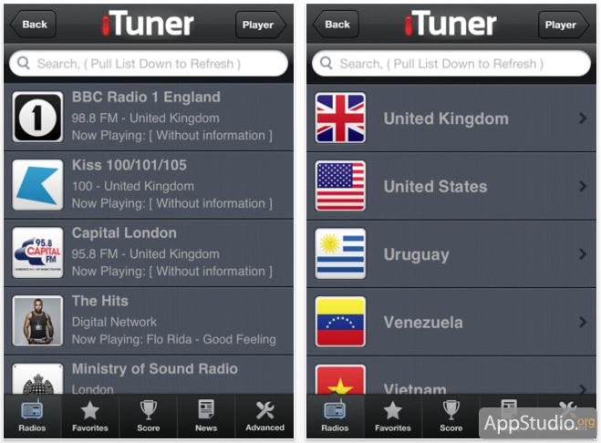 iTuner Radio из App Store