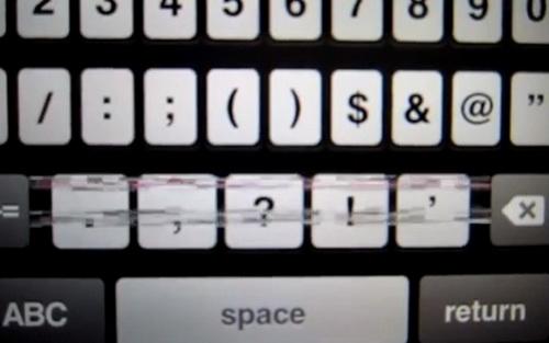 Артефакты на клавиатуре iPhone 5