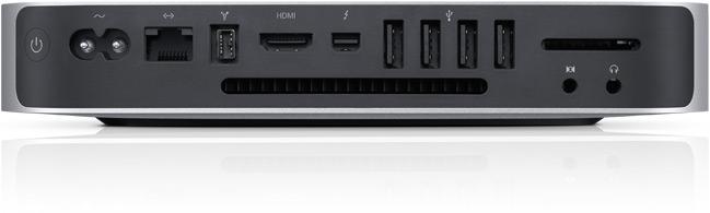 Задняя стенка новых Mac mini