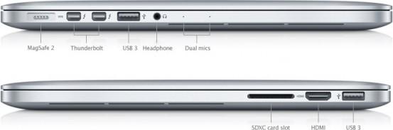 Порты MacBook Pro Retina 13''
