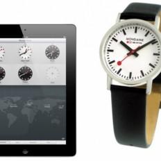 """Приложение """"Часы"""" на iPad в iOS 6 и швейцарские часы Mondaine"""
