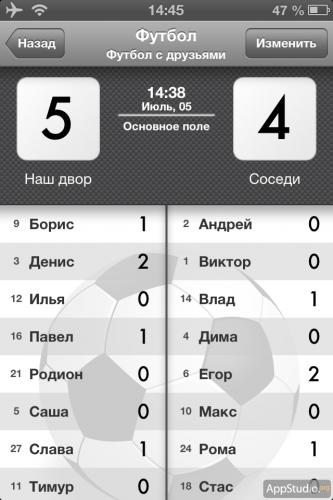 Футбольный матч в Sports Counter