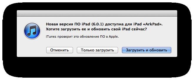 Выпущена iOS 6.0.1