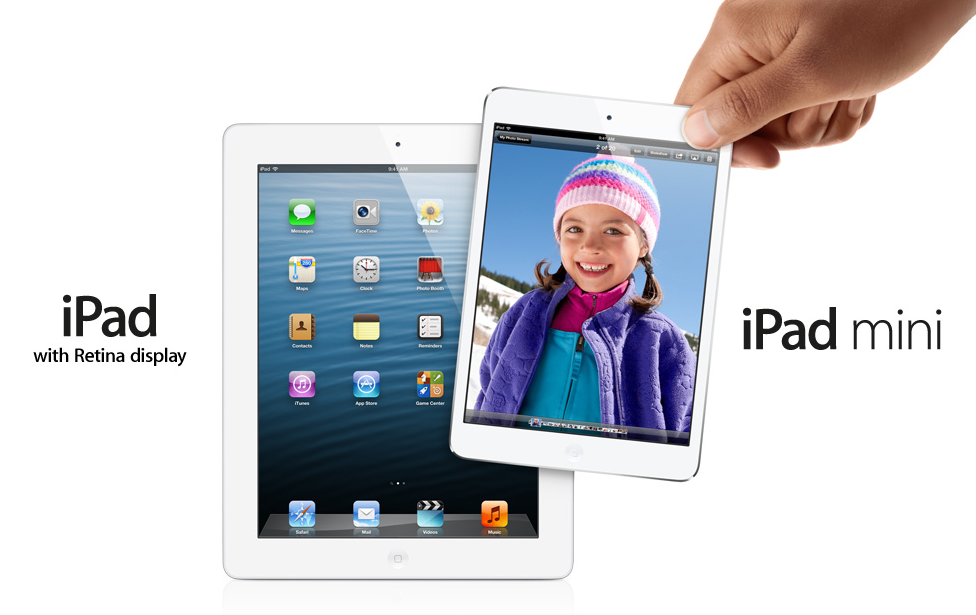 Продажи iPad mini и iPad 4
