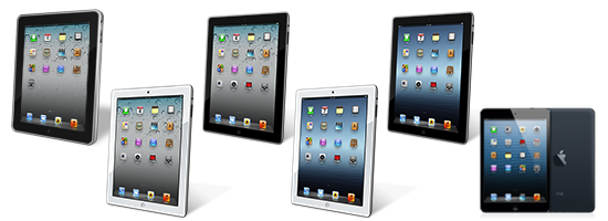 Сравнение характеристик iPad