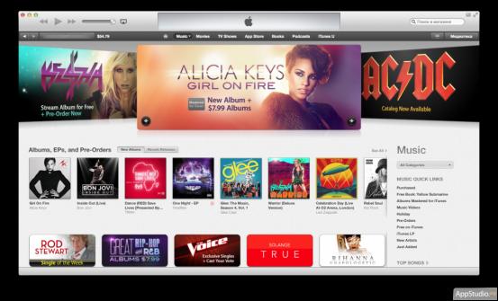 iTunes Store в iTunes 11