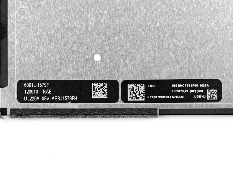 Дисплей iPad 4 производства LG